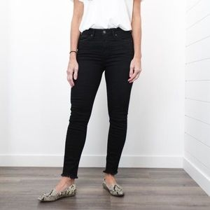 Silver Isbister high rise skinny ankle-obsidian